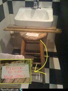 I fixed it  stool