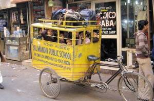 school bus in India